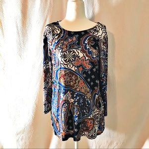 Ruby Rd Print Top Size Petite Large